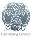Hair Salon Stylist Hairdresser Faces Royalty Free Stock Photo