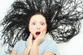 Hair shock Royalty Free Stock Images
