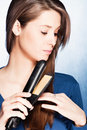 Hair straightener iron Royalty Free Stock Photo