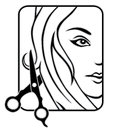 Hair studio vector icon for Royalty Free Stock Images