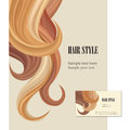 Hair style background vector set poster or visit card blond red and brown salon decor collection Stock Photography