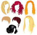 Hair style samples Royalty Free Stock Images