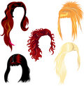 Hair style samples Royalty Free Stock Image