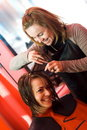 At the hair stylist Royalty Free Stock Photo