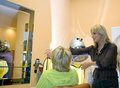 At the hairdresser Royalty Free Stock Photo