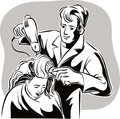 Hairdresser in his studio, Royalty Free Stock Photo