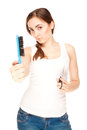 Hairdresser holding a  scissors and comb (focus on comb) Stock Photography