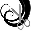 Hairdresser logo vector illustration of Royalty Free Stock Photo
