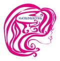 Hairdresser salon logo illustration Royalty Free Stock Photography