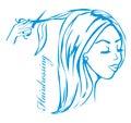 Hairdresser salon logo illustration Stock Photography
