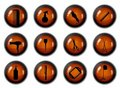 Hairdressing Buttons Stock Image