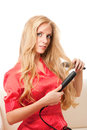 Hairdressing girl Royalty Free Stock Image