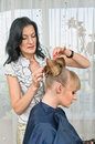 In hairdressing saloon Royalty Free Stock Photography