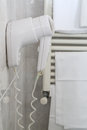 Hairdryer isolated in a bathroom Stock Image