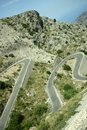 Hairpin curve Royalty Free Stock Photo