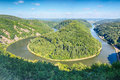 Hairpin Curve in the River Saar Royalty Free Stock Photo
