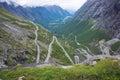 Hairpin curves trollstigen dangerous roads Royalty Free Stock Images