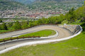 Hairpin viabilities and dangerous mountain panoramic Royalty Free Stock Photo