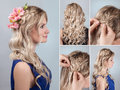 Hairstyle Braid With Fresh Flo...