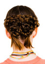 Hairstyle of girl Royalty Free Stock Images