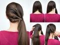 Hairstyle Twisted Pony Tail Tu...