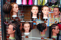 Hairstyles On Mannequins Royalty Free Stock Photo