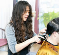 Hairstylist working Royalty Free Stock Photos