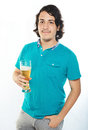 Hairy man with beer Royalty Free Stock Photo