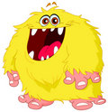 Hairy monster Royalty Free Stock Images