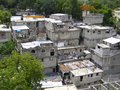 Haiti homes rugged in port au prince many are still destroyed from the earthquake in january Stock Photo
