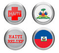 Haiti icon adn flag Royalty Free Stock Image