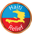 Haiti Relief - Help Haiti icon Royalty Free Stock Image