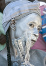 Haitian woman hoping for political reforms cap haitien haiti nov unidentified painted in silver waiting the president visit with Stock Photo