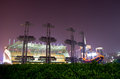 Haixinsha Asian Games Park at night. Royalty Free Stock Photo