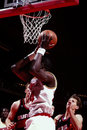 Hakeem olajawon houston rockets center image taken from color slide Royalty Free Stock Photos