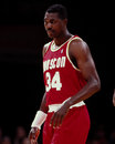 Hakeem olajawon houston rockets center image taken from color slide Stock Photography