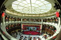 Hakka round building modern architecture in miaoli taiwan imitation chinese ancient construction on october is enabled Stock Image