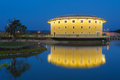 Hakka tulou structures in miaoli taiwan by the pond Stock Images
