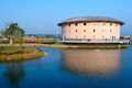 Hakka tulou structures in miaoli taiwan by the pond Stock Photos