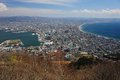 Hakodate japan beautiful view of Royalty Free Stock Image