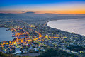 Hakodate japan viewed from mountain Royalty Free Stock Photos