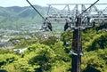 Hakone rope way Royalty Free Stock Image