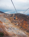 Hakone ropeway mountain cable car Royalty Free Stock Photo
