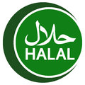 Halal logo emblem vector Halal sign certificate tag Royalty Free Stock Photo