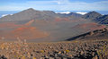 Haleakala crater haleakala maui hawaii as viewed from the summit Stock Photography