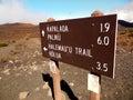 Haleakala Trails Royalty Free Stock Photo