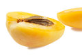 Half of apricot Royalty Free Stock Photo