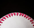 Half baseball background black copy space Stock Photo