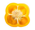 A half of bell pepper yellow isolated on white background Royalty Free Stock Photography