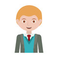 Half body blond man with formal suit and business Royalty Free Stock Photo